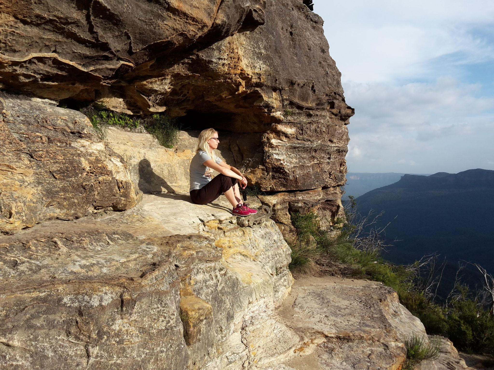 Looking at the world in Blue Mountains, Australia