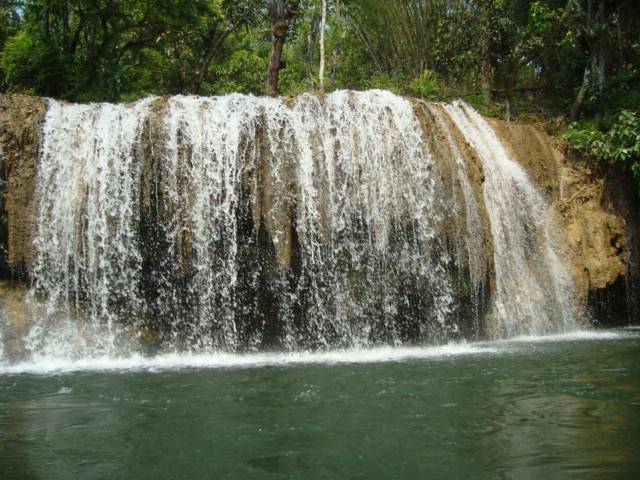 Pretty waterfall close to Hintok River Camp, Thailand
