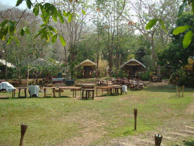 The campsite, Hinto River Camp, Thailand