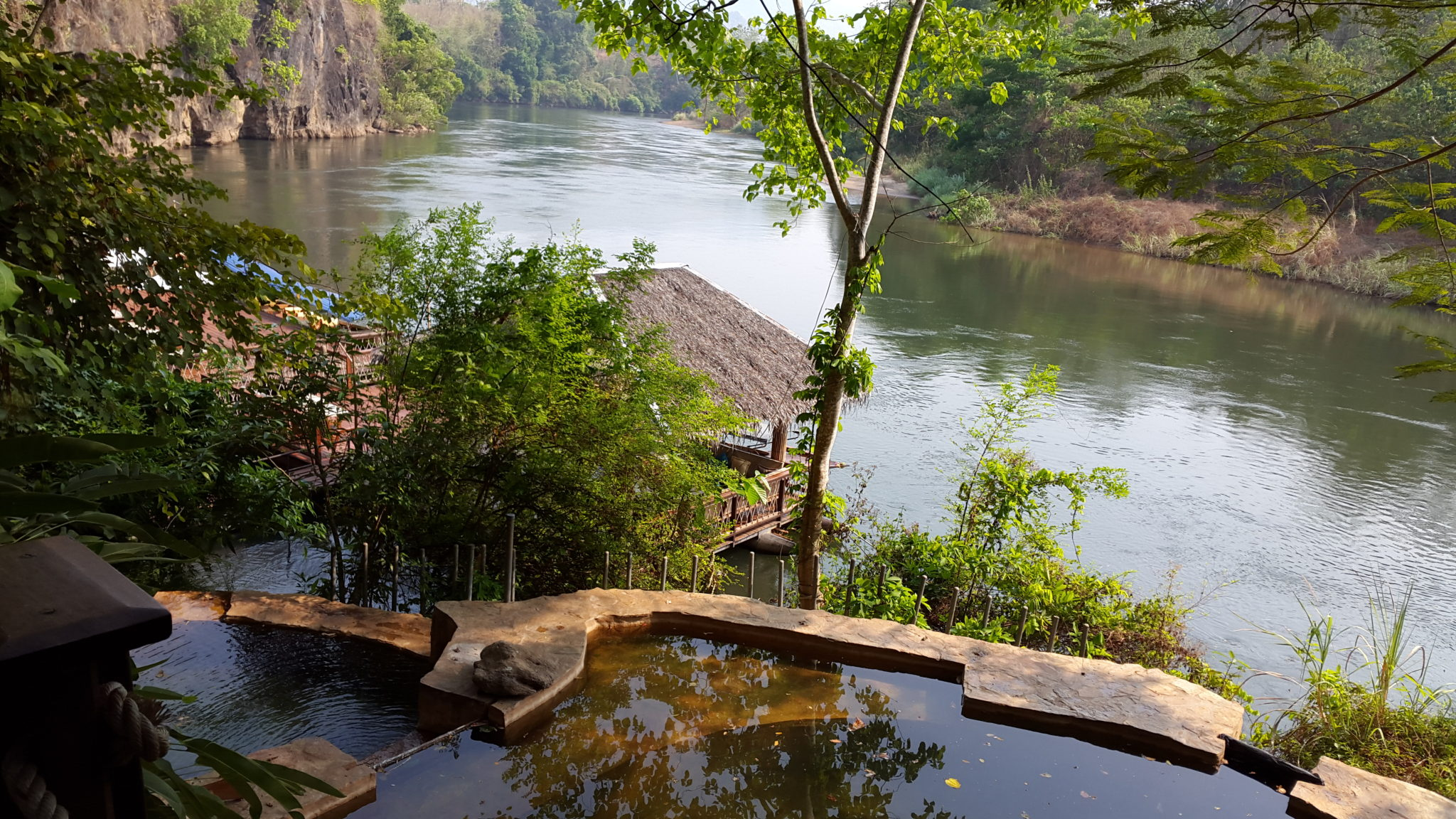 The pool at Hintok River Camp, Thailand