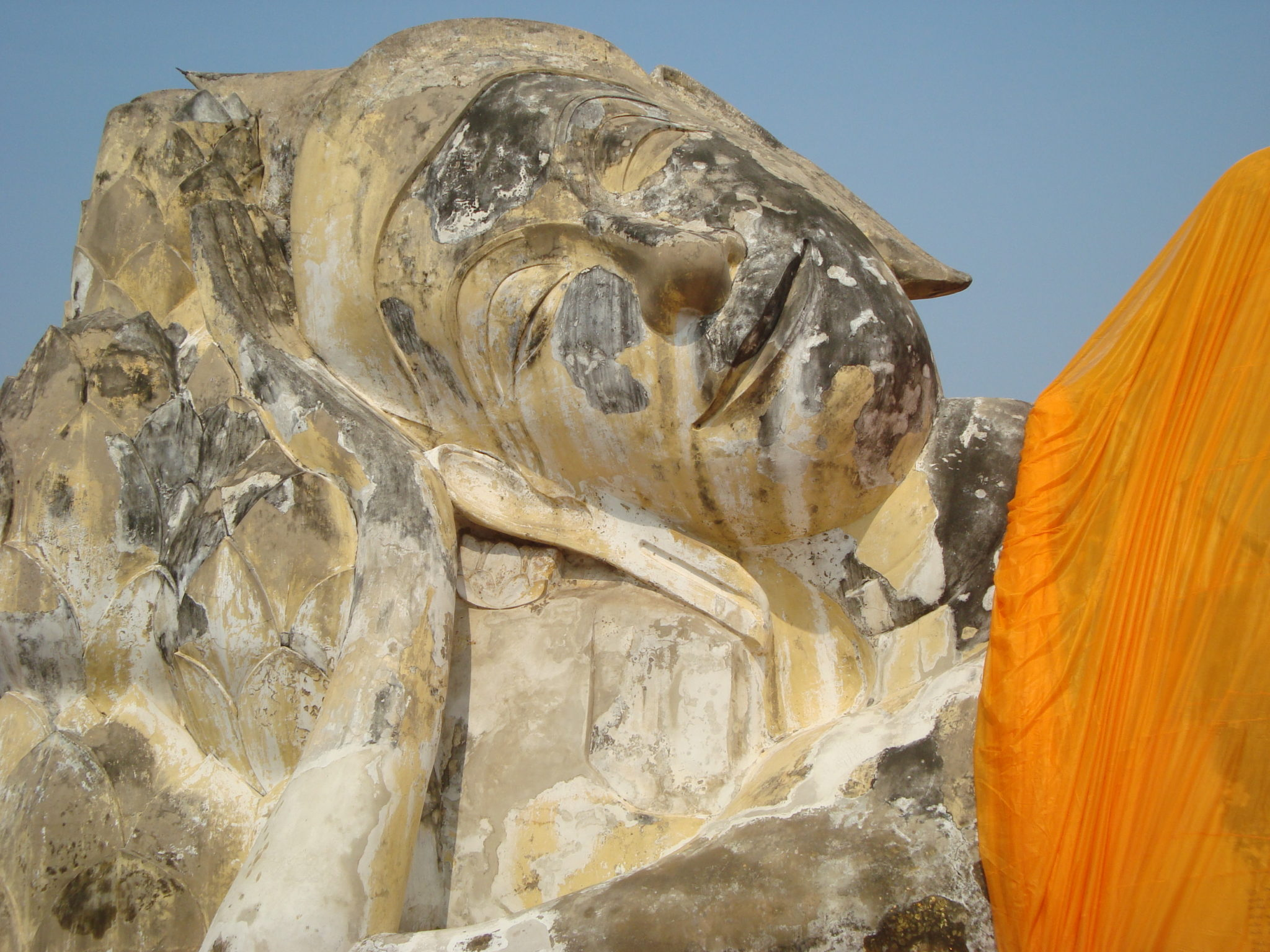 Declining Buddha, Auytthaya, Thaialnd