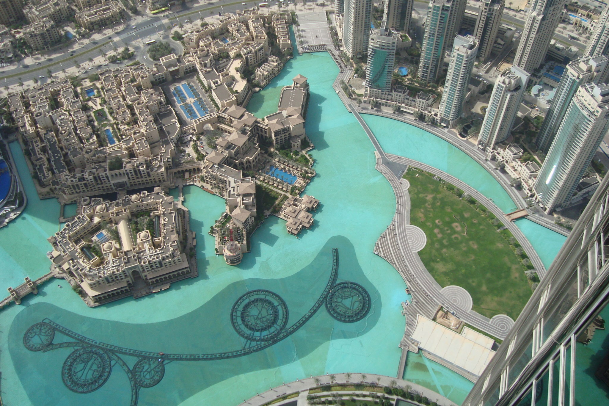 Looking down from Burj Khalifa, UAE