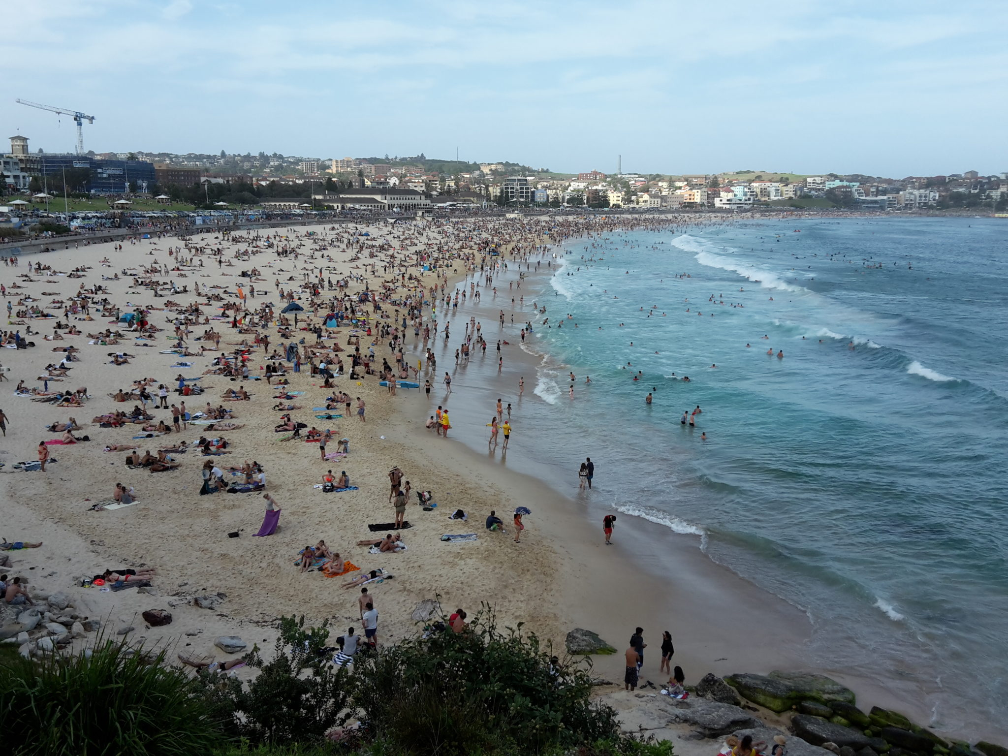 View towards Bondi Beach, Australia