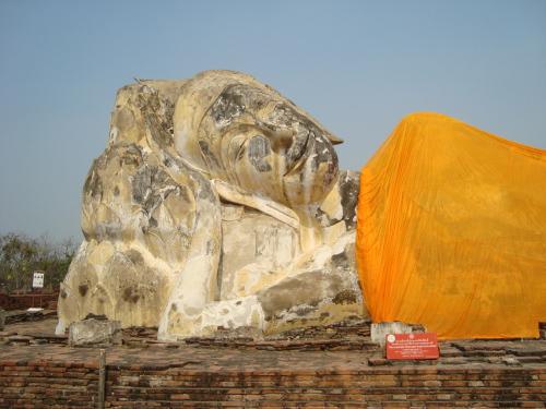Reclining Buddha at Wat Lokayasutharam,Ayutthaya, Thailand