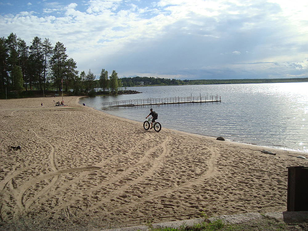 Fat biking on the beach, Lulea, Sweden