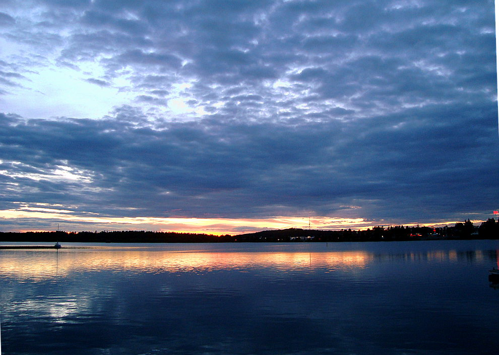 Sunset, Lulea, Sweden