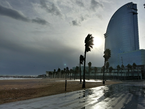 Crazy weather, Barcelona