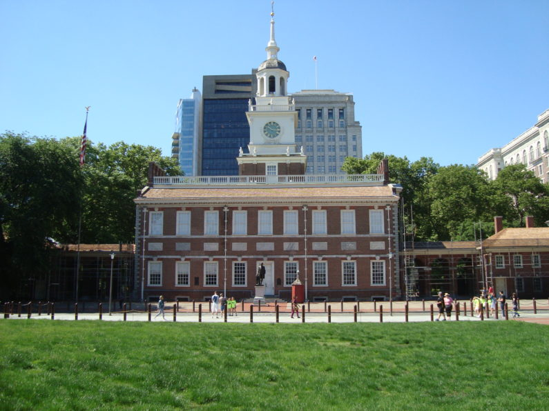 The old cityhall, Phildadelphia