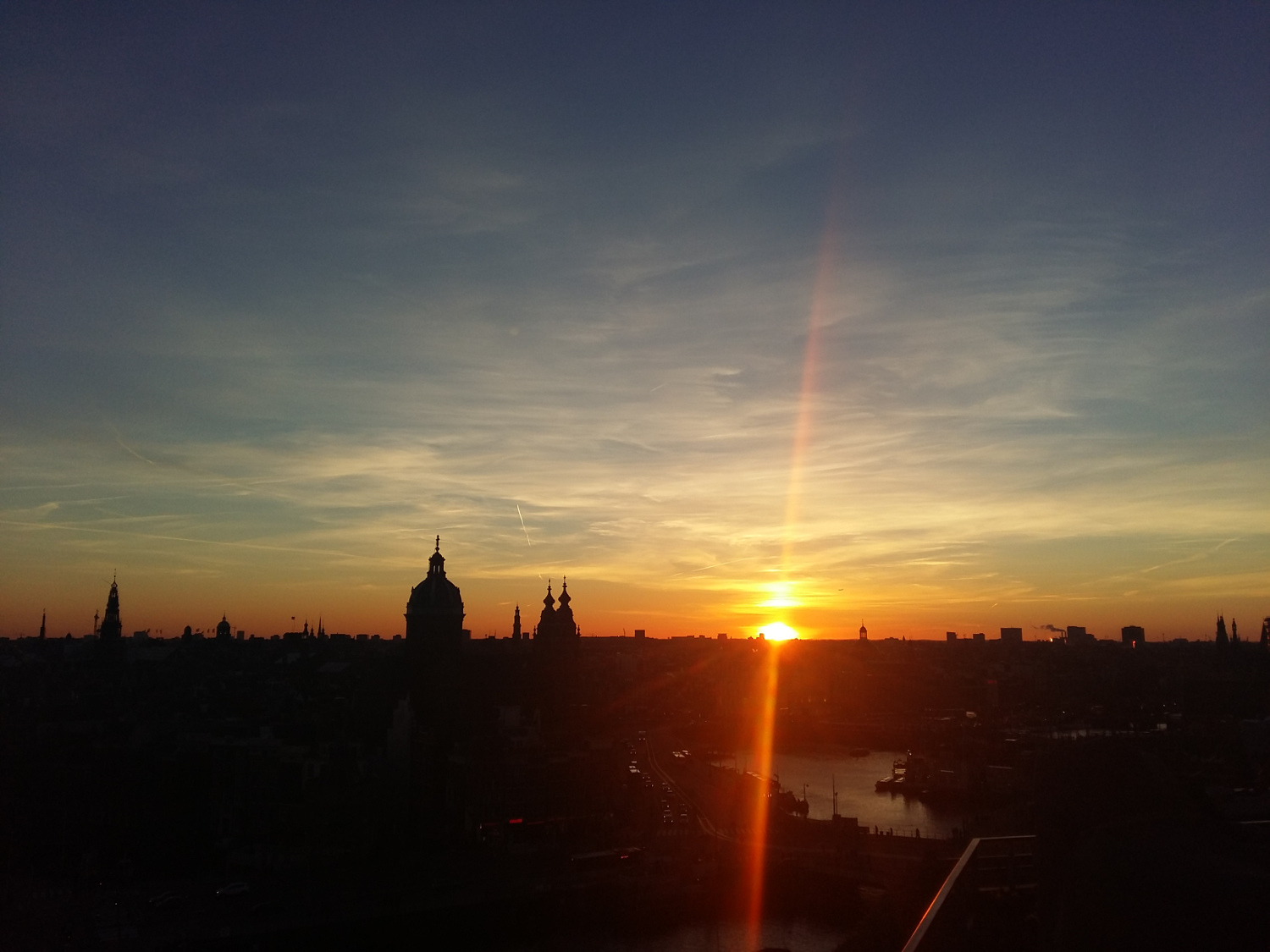 Sunset from SkyLounge, Amsterdam